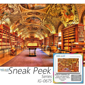 Ingooood-Jigsaw Puzzle 1000 Pieces-Sneak Peek Series-Record Library_IG-0675 Entertainment Toy for Adult Special Graduation or Birthday Gift Home Decor - Ingooood