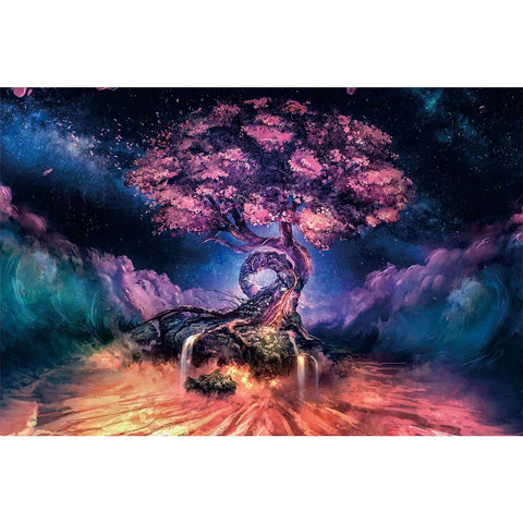 Ingooood-Jigsaw Puzzle 1000 Pieces-Sneak Peek Series-Reincarnation tree_IG-1546 Entertainment Toys for Adult Graduation or Birthday Gift Home Decor - Ingooood_US