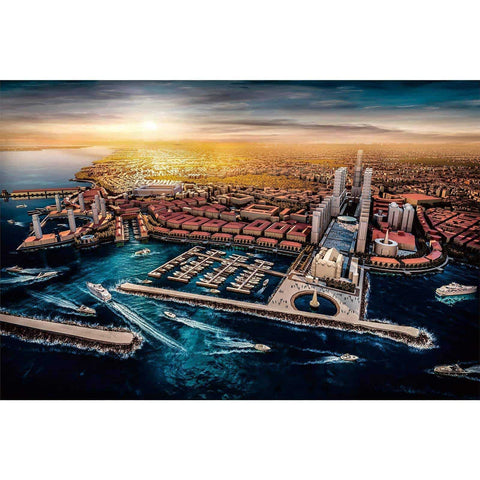 Ingooood-Jigsaw Puzzle 1000 Pieces-Sneak Peek Series-Seaside city_IG-1543 Entertainment Toys for Adult Graduation or Birthday Gift Home Decor - Ingooood_US