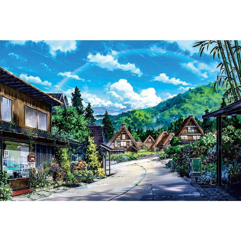 Ingooood-Jigsaw Puzzle 1000 Pieces-Sneak Peek Series-Summer street_IG-1557 Entertainment Toys for Adult Graduation or Birthday Gift Home Decor - Ingooood_US