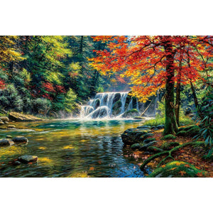 Ingooood-Jigsaw Puzzle 1000 Pieces-Sneak Peek Series-Tranquil waterfall_IG-1584 Entertainment Toys for Adult Graduation or Birthday Gift Home Decor - Ingooood_US