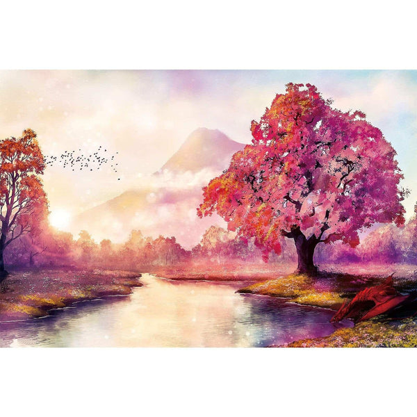Ingooood-Jigsaw Puzzle 1000 Pieces-Sneak Peek Series-Warm sun red maple_IG-1585 Entertainment Toys for Adult Graduation or Birthday Gift Home Decor - Ingooood_US