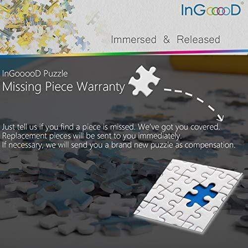 Ingooood-Jigsaw Puzzle 1000 Pieces-Sneak Peek Series-White tTree_IG-1219 Entertainment Toys for Adult Special Graduation or Birthday Gift Home Decor - Ingooood