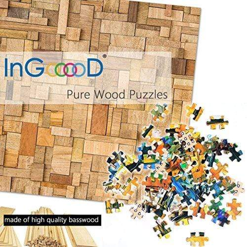 Ingooood-Jigsaw Puzzle 1000 Pieces-Sneak Peek Series-Winter Street_IG-1013 Entertainment Toys for Adult Special Graduation or Birthday Gift Home Decor - Ingooood