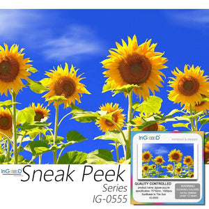 Ingooood Plastic Jigsaw Puzzle 1000 Pieces for Adult - Sunflower in The Sun - Ingooood
