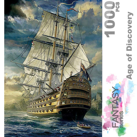 Ingooood Wooden Jigsaw Puzzle 1000 Pieces for Adult - Age of Discovery - Ingooood