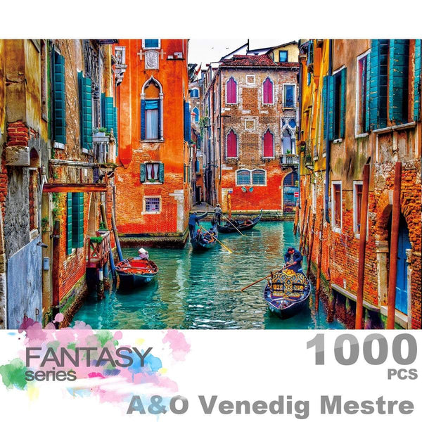 Ingooood Wooden Jigsaw Puzzle 1000 Pieces for Adult - A&O Venedig Mestre - Ingooood