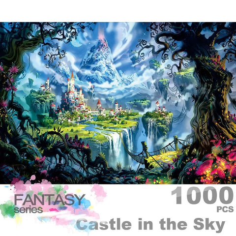 Ingooood Wooden Jigsaw Puzzle 1000 Pieces for Adult - Castle in the Sky - Ingooood