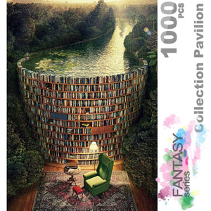 Ingooood Wooden Jigsaw Puzzle 1000 Pieces for Adult - Collection Pavilion - Ingooood