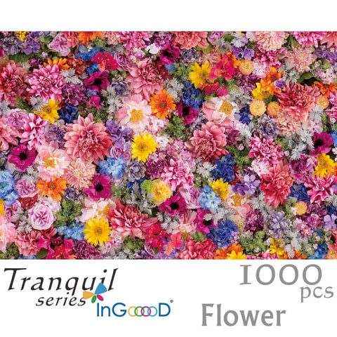 Ingooood Wooden Jigsaw Puzzle 1000 Pieces for Adult - Flower - Ingooood