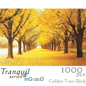 Ingooood Wooden Jigsaw Puzzle 1000 Pieces for Adult - Golden Trees - Ingooood