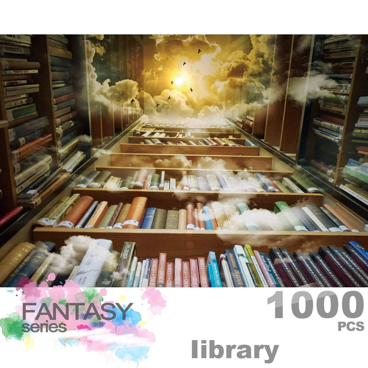 Ingooood Wooden Jigsaw Puzzle 1000 Pieces for Adult - Library - Ingooood