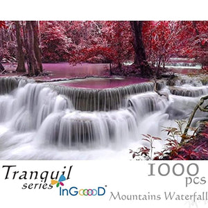 Ingooood Wooden Jigsaw Puzzle 1000 Pieces for Adult - Mountains Waterfall - Ingooood