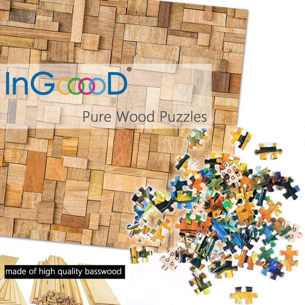 Ingooood Wooden Jigsaw Puzzle 1000 Pieces for Adult - Red autumnal leaves - Ingooood