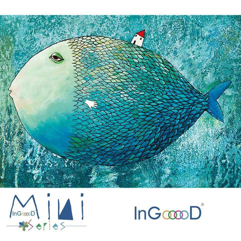 InGooooD - World Mini Jigsaw Puzzle 1000 Pieces For Adults and Kids - Fish and House - Ingooood