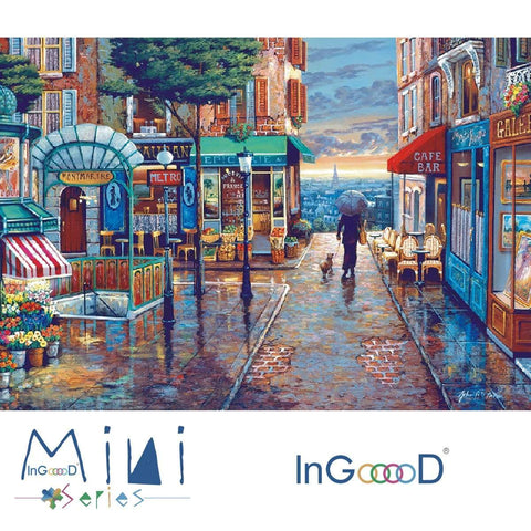 InGooooD - World Mini Jigsaw Puzzle 1000 Pieces For Adults and Kids - Romantic Town - Ingooood