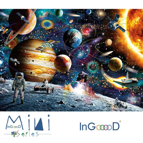 InGooooD - World Mini Jigsaw Puzzle 1000 Pieces For Adults and Kids - Space Traveler - Ingooood
