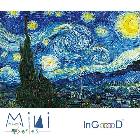 InGooooD - World Mini Jigsaw Puzzle 1000 Pieces For Adults and Kids - Starry Sky - Ingooood