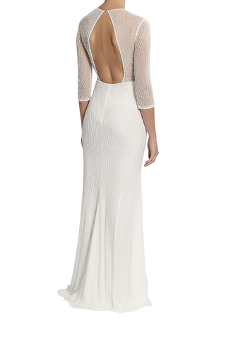 Jonté Curator Gown Beaded Wedding Dress Long sleeve