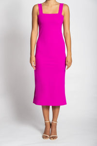 Palm Knit Dress - Electric Pink