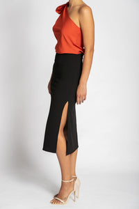 Palm Knit Skirt - Black