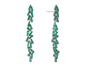 Aurora Earrings - Green Zirconia
