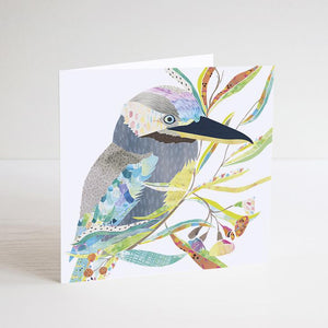 Blue-Winged Kookaburra Mini Card