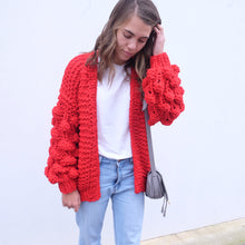 Load image into Gallery viewer, Hello Parry - Eleanor Bubble Knit Cardigan - Red
