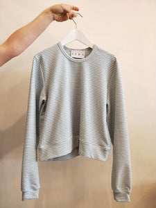 Relief Sweater, classic sweater with a slight cropped length
