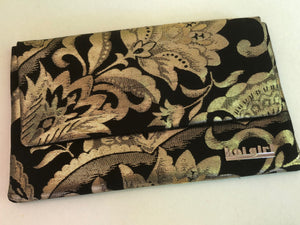Black and Gold Floral Clutch