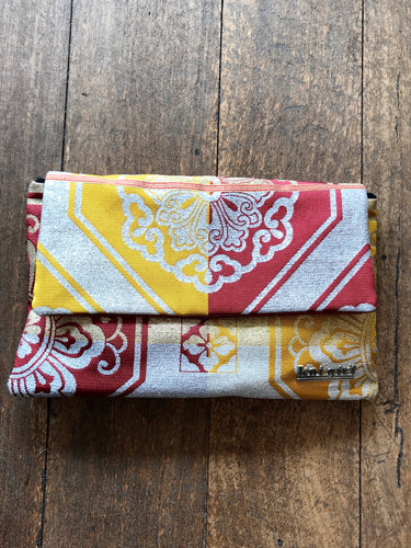 Red and Yellow Patterned Clutch
