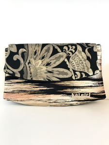 Black and Gold Blossoms Clutch