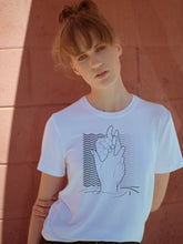 Load image into Gallery viewer, Currents Tee, white printed tee