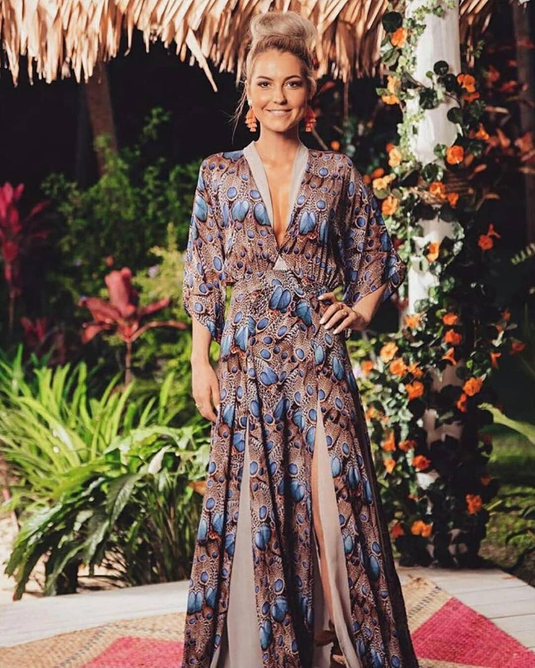 Peacock Silk Dress