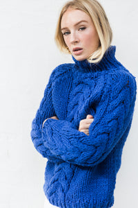 Tilly Cable Jumper - Blue