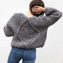 Load image into Gallery viewer, Hello Parry - Nia Cable Knit Cardigan - Charcoal