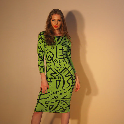 Column Dress - Verse 2 - Lime