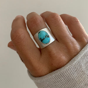 Tibetan Turquoise Wide Band Ring
