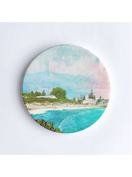 Bathers Beach Ceramic Coaster