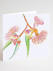 Gum Blossoms Greetings Card