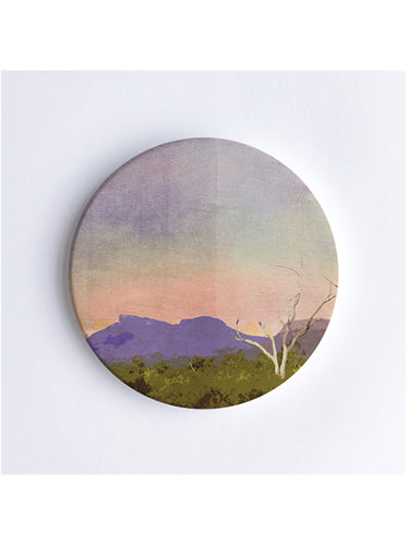 Sunset Over Bluff Knoll Ceramic Coaster