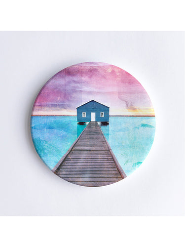 Crawley Boat House Ceramic Coaster