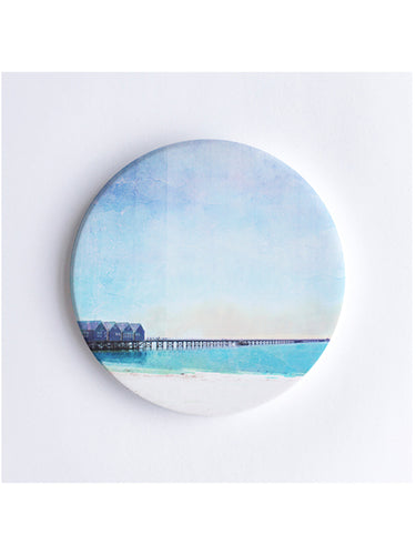 Busselton Jetty Ceramic Coaster