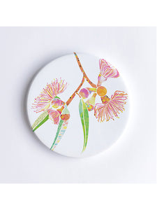 Gum Blossoms Ceramic Coaster