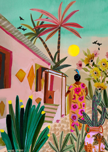 Hebe Studio Print - That Pink House in Hampi