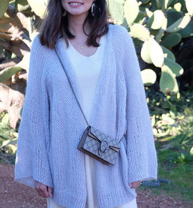 Hello Parry - Yvette Kimono Hand Knitted Cardigan - Lilac
