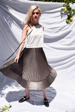 Load image into Gallery viewer, Nina Asymmetric Pleated Skirt