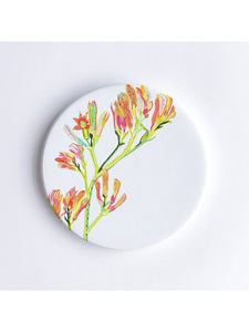Kangaroo Paws Ceramic Coaster