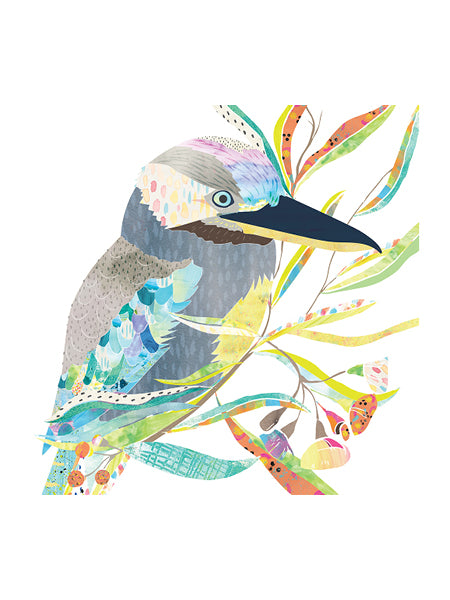 Blue-Winged Kookaburra Art Print