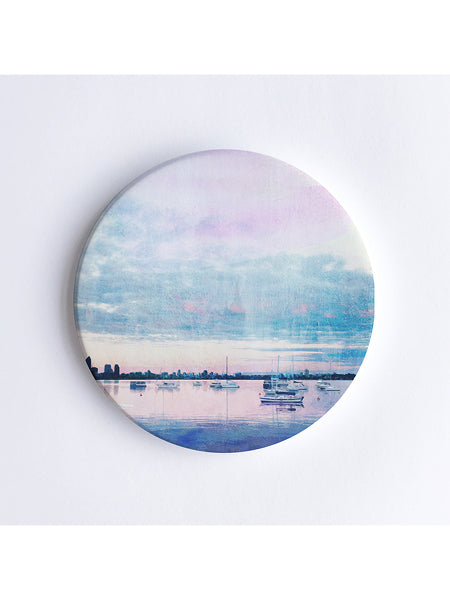 Dusk at Matilda Bay Ceramic Coaster